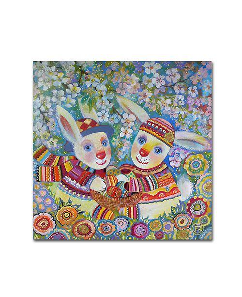 "Trademark Global Oxana Ziaka 'Passover' Canvas Art - 14"" x 14"" x 2"""