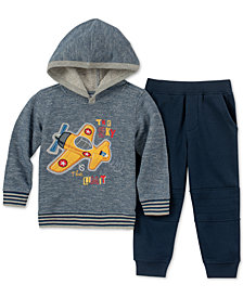 Kids Headquarters Baby Boys 2-Pc. Marled Plane Hoodie & Pants Set