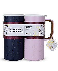 Ello 2-Pc. Campy Stainless Steel Travel Mug Set