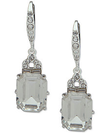 Lauren Ralph Lauren Silver-Tone Crystal Drop Earrings