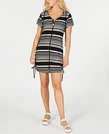 Ibiza Striped Hoodie Dress Cover-Up