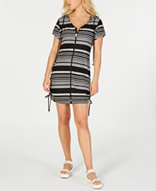 Dotti Ibiza Striped Hoodie Dress Cover-Up