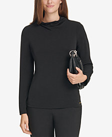 Calvin Klein Mock-Neck Top