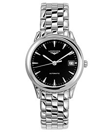 Longines Men's Swiss Automatic Flagship Stainless Steel Bracelet Watch L47744526