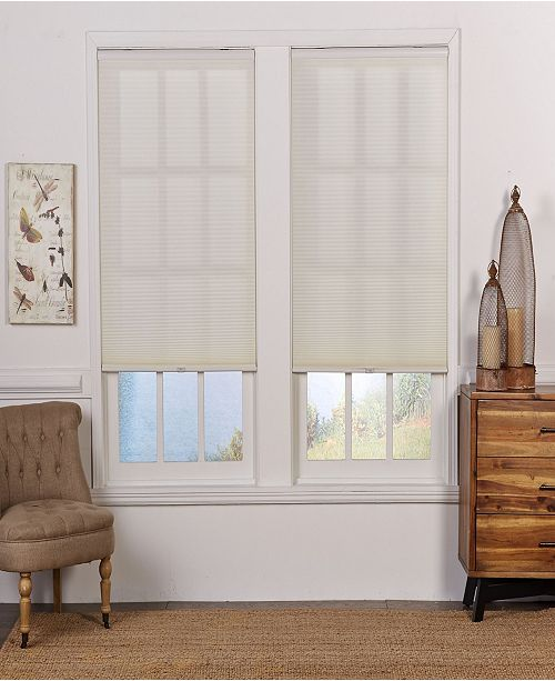 "The Cordless Collection Cordless Light Filtering Cellular Shade, 46.5"" x 84"""