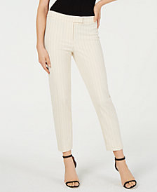 Anne Klein Striped Straight-Leg Pants, Created for Macy's