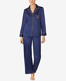 Lauren Ralph Lauren Petite Satin Pajama Set