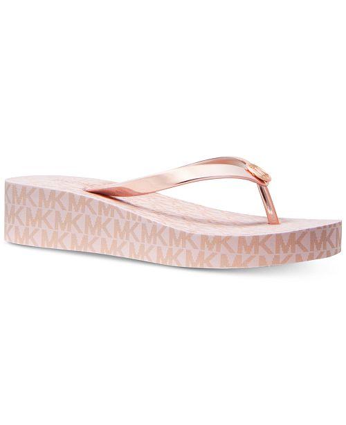 5966c398df9c Michael Kors Bedford Flip-Flop Sandals   Reviews - Sandals   Flip ...
