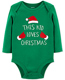 Carter's Baby Boys & Girls Christmas Cotton Bodysuit