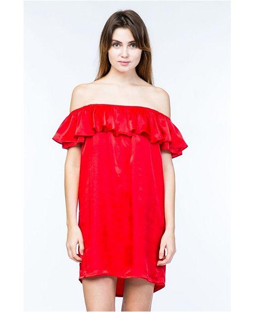 Olivia Pratt Short Sleeve Ruffle Dress