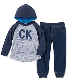 Calvin Klein Baby Boys2-Pc. Logo-Print Hoodie & Jogger Pants Set