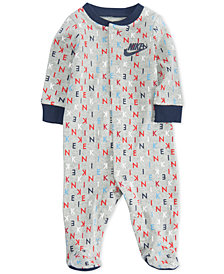 Nike Logo Print Footed Coverall