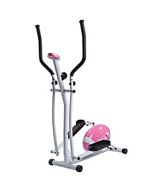Sunny Health & Fitness Pink Magnetic Elliptical Bike