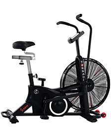 Sunny Health & Fitness Exercise Fan Bike with Bluetooth and Heart Rate Compatibility- Tornado LX Air Bike