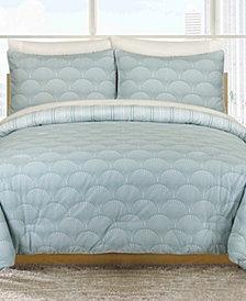 Ron Chereskin Modern Fanfair Turquoise King Duvet Set