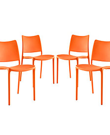 Modway Hipster Dining Side Chair Set of 4