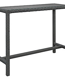 Sojourn Large Outdoor Patio Bar Table