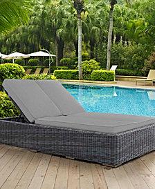 Summon Double Outdoor Patio Sunbrella® Chaise