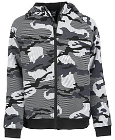 Ideology Toddler Boys Camo-Print Fleece Hooded Jacket, Created for Macy's