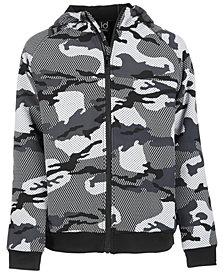 Ideology Toddler Boys Camo-Print Fleece Hooded Jacket, Created for Macy's