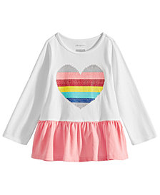 First Impressions Baby Girls Rainbow Heart Graphic Cotton Tunic, Created for Macy's