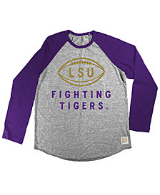 Retro Brand LSU Tigers Raglan Long Sleeve T-Shirt, Big Boys (8-20)