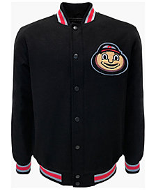 G-III Sports Men's Ohio State Buckeyes Wool Brutus Varsity Jacket