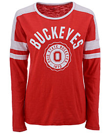 Top of the World Women's Ohio State Buckeyes Varsity Long Sleeve T-Shirt