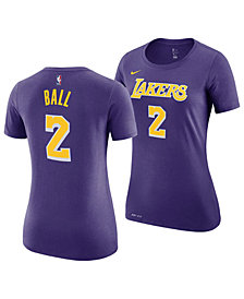 Nike Women's Lonzo Ball Los Angeles Lakers Name and Number Player T-Shirt