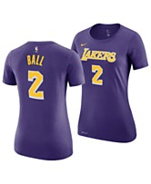 cheap for discount 455e9 1b8ee Nike Women s Lonzo Ball Los Angeles Lakers Name and Number Player T-Shirt