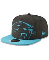 14b5dd3f9c2c67 New Era Carolina Panthers Oversized Laser Cut 9FIFTY Snapback Cap
