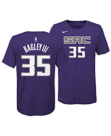 Nike Marvin Bagley III Sacramento Kings Icon Name and Number T-Shirt, Big Boys (8-20)