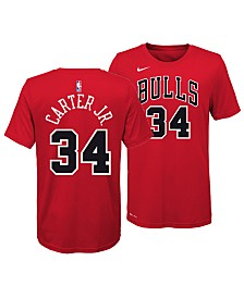 Nike Wendell Carter Jr. Chicago Bulls Icon Name and Number T-Shirt, Big Boys (8-20)