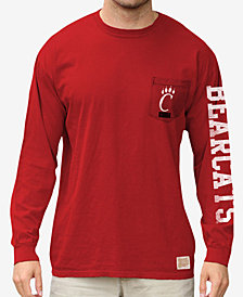 Retro Brand Men's Cincinnati Bearcats Heavy Weight Long Sleeve Pocket T-Shirt