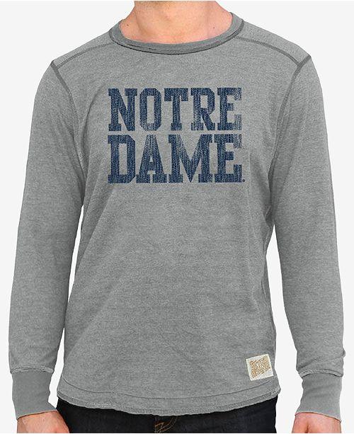 9ed5a60d653d7 Retro Brand Men s Notre Dame Fighting Irish Deconstructed Crew Sweatshirt