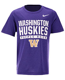 Nike Washington Huskies Legend T-Shirt, Big Boys (8-20)