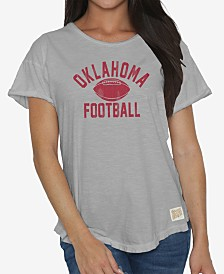 Retro Brand Women's Oklahoma Sooners Rolled Sleeve T-Shirt