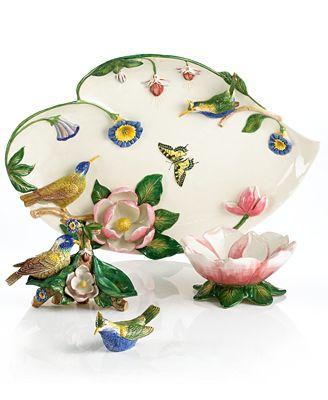 CLOSEOUT! Portmeirion Serveware, Botanic Hummingbird Figural Collection