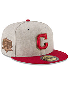 New Era Cleveland Indians Leather Ultimate Patch Collection 59FIFTY FITTED Cap