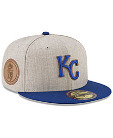 New Era Kansas City Royals Leather Ultimate Patch Collection 59FIFTY FITTED Cap