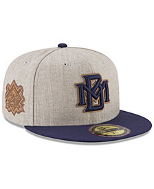 New Era Milwaukee Brewers Leather Ultimate Patch Collection 59FIFTY FITTED Cap
