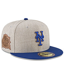 New Era New York Mets Leather Ultimate Patch Collection 59FIFTY FITTED Cap