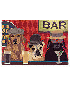 "Liora Manne Front Porch Indoor/Outdoor Bar Patrol Port 2'6"" x 4' Area Rug"