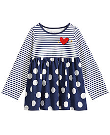 First Impressions Baby Girls Stripe & Dot Cotton Tunic, Created for Macy's