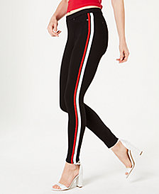 HUE® Racer Stripe Original Denim Leggings