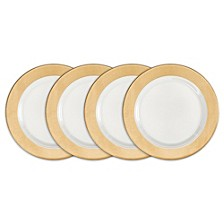 Moonbeam Ring Gold Melamine 4-Pc. Salad Plate Set