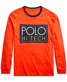 Polo Ralph Lauren Men's Hi Tech Logo Graphic Long-Sleeve T-Shirt