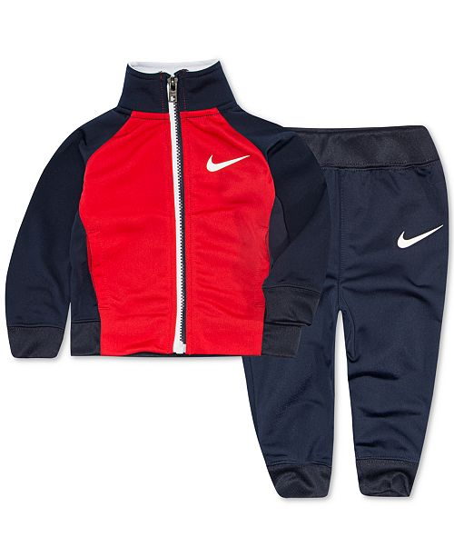 Nike Little Boys 2-Pc. Colorblocked Swish Track Suit Set