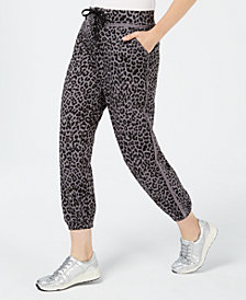 Material Girl Juniors' Raw-Trim Jogger Pants, Created for Macy's