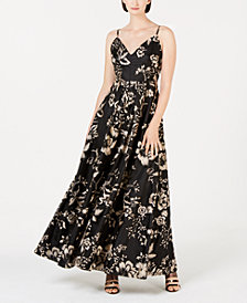 Calvin Klein Embroidered Floral Gown